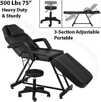 Amazon Com 500lbs 75 Heavy Duty Portable Massage Table Bed 3