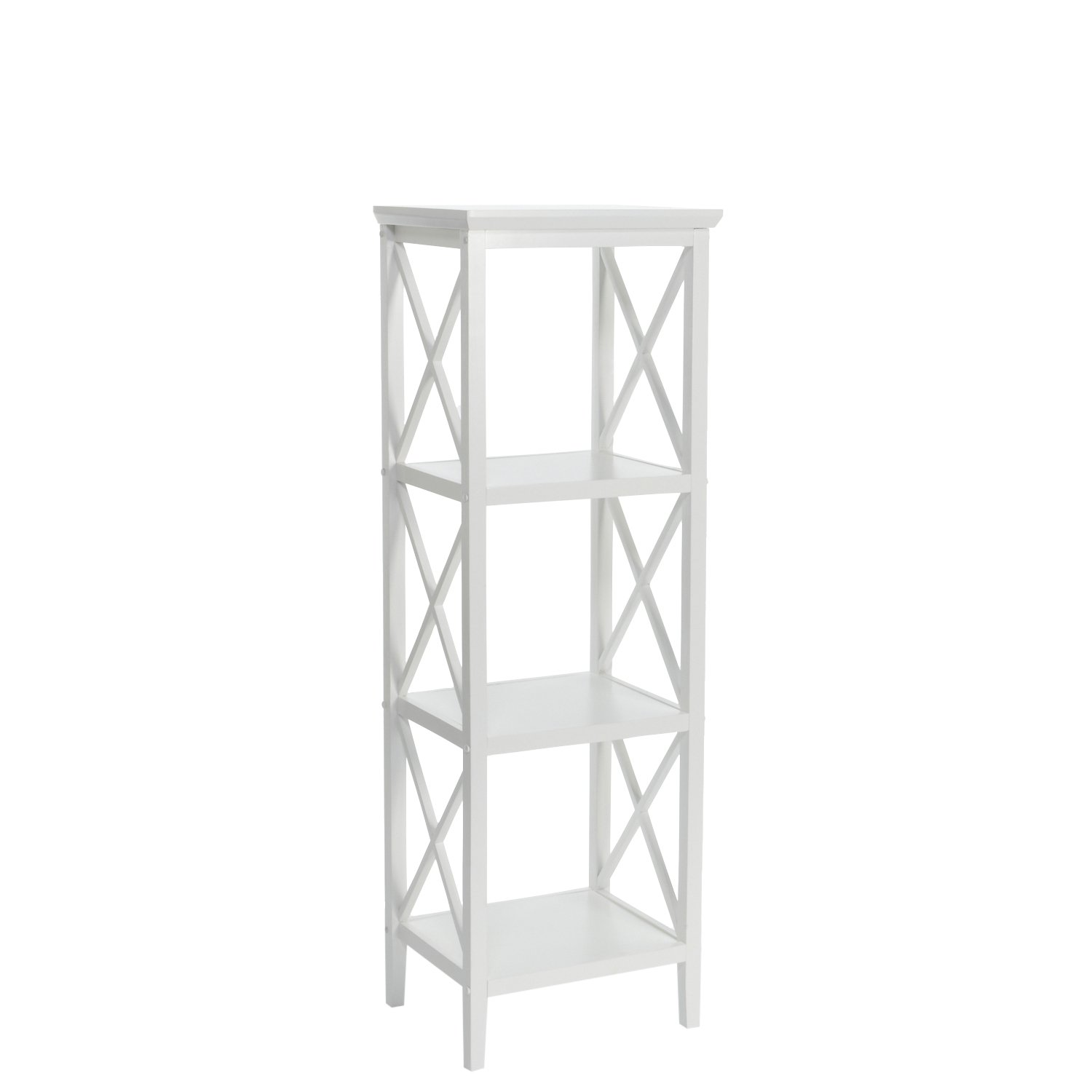 RiverRidge X- Frame Collection 4-Shelf Storage Tower, White by RiverRidge Home (Image #1)