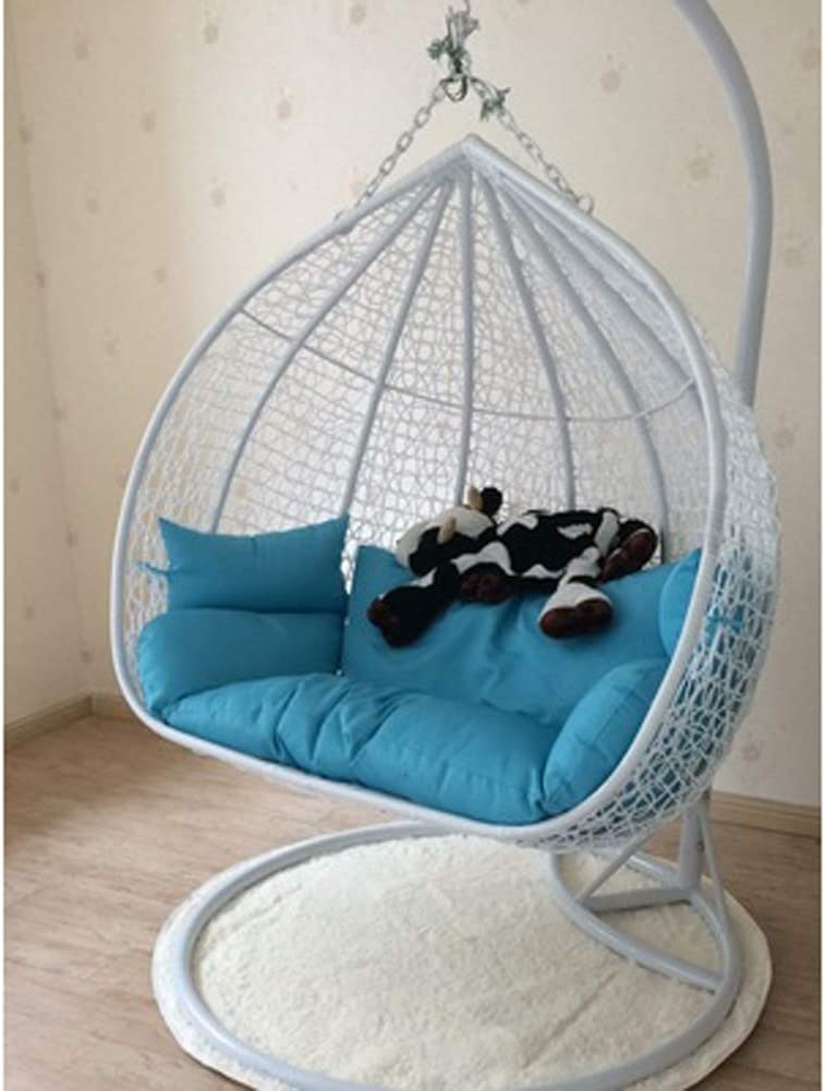 LCZ Thick Hanging Hammock Nest Egg Swing Chair Cushion,Seat Cushioning Pad for Indoor Outdoor Patio Backyard Double Zipper No Chair-Creamy