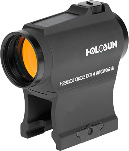 HOLOSUN - HS503CU Paralow Solar Micro Red Dot Sight with 1X Magnification