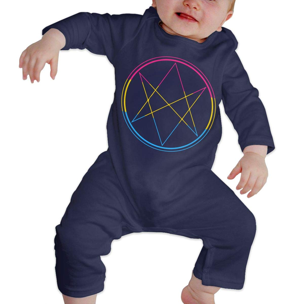 Baby Boy Girl Long Sleeved Coveralls Supernatural Pansexual Pride Baby Clothes