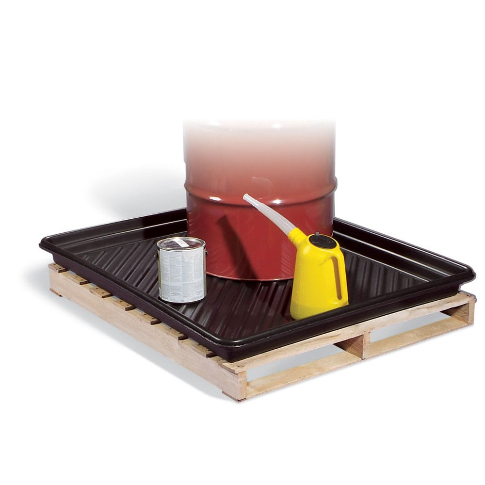 New Pig Pallet Containment Tray, 28-Gallon Sump Capacity, Plastic, 51'' x 43'' x 4'', PAK112 by New Pig Corporation