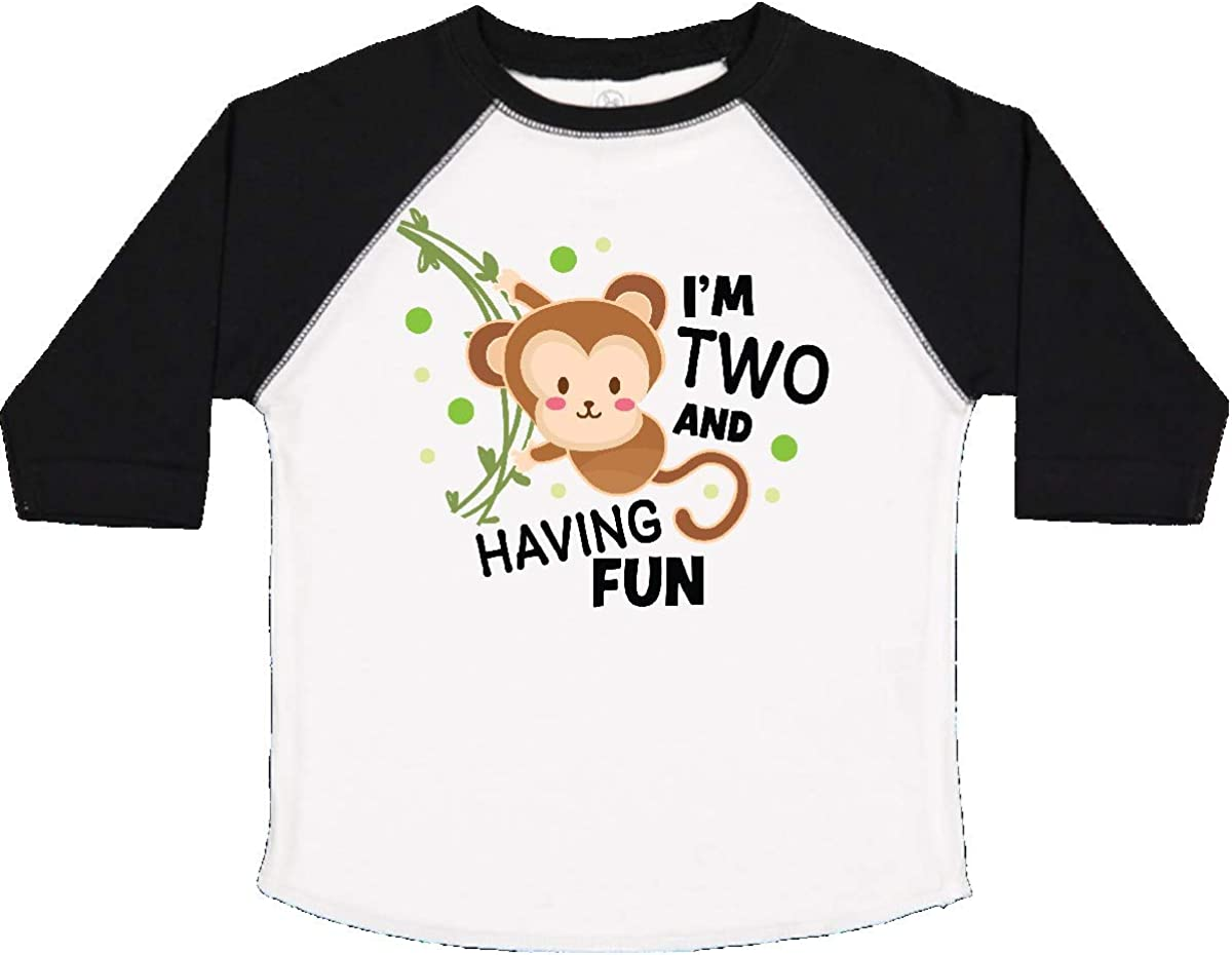 inktastic Im 2 and Having Fun with Monkey Baby T-Shirt