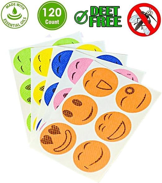 24 Anti-Mücken Aufkleber Pflaster Sticker Citronella Camping Urlaub Outdoor