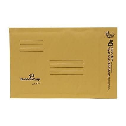 amazon com duck brand kraft bubble mailers 0 6 x 9 inches 25