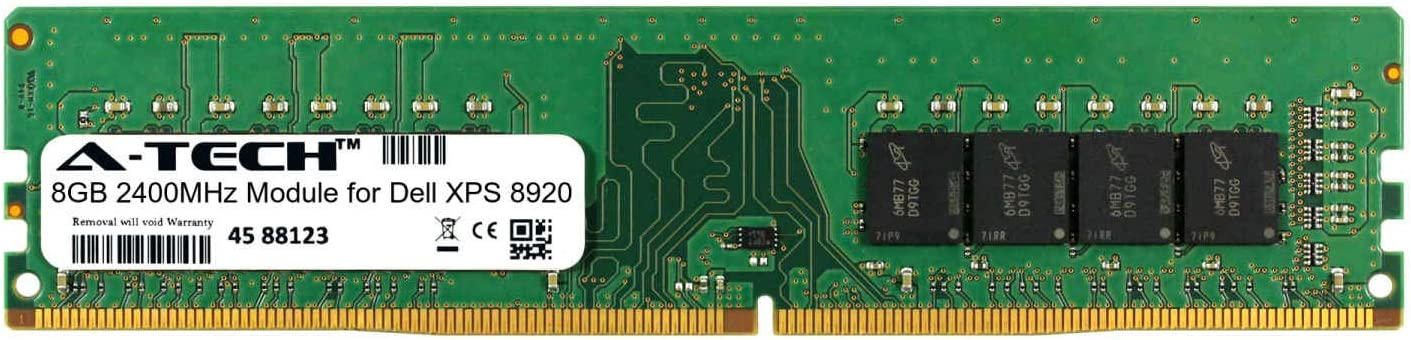 A-Tech 8GB Module for Dell XPS 8920 Desktop & Workstation Motherboard Compatible DDR4 2400Mhz Memory Ram (ATMS360887A25820X1)