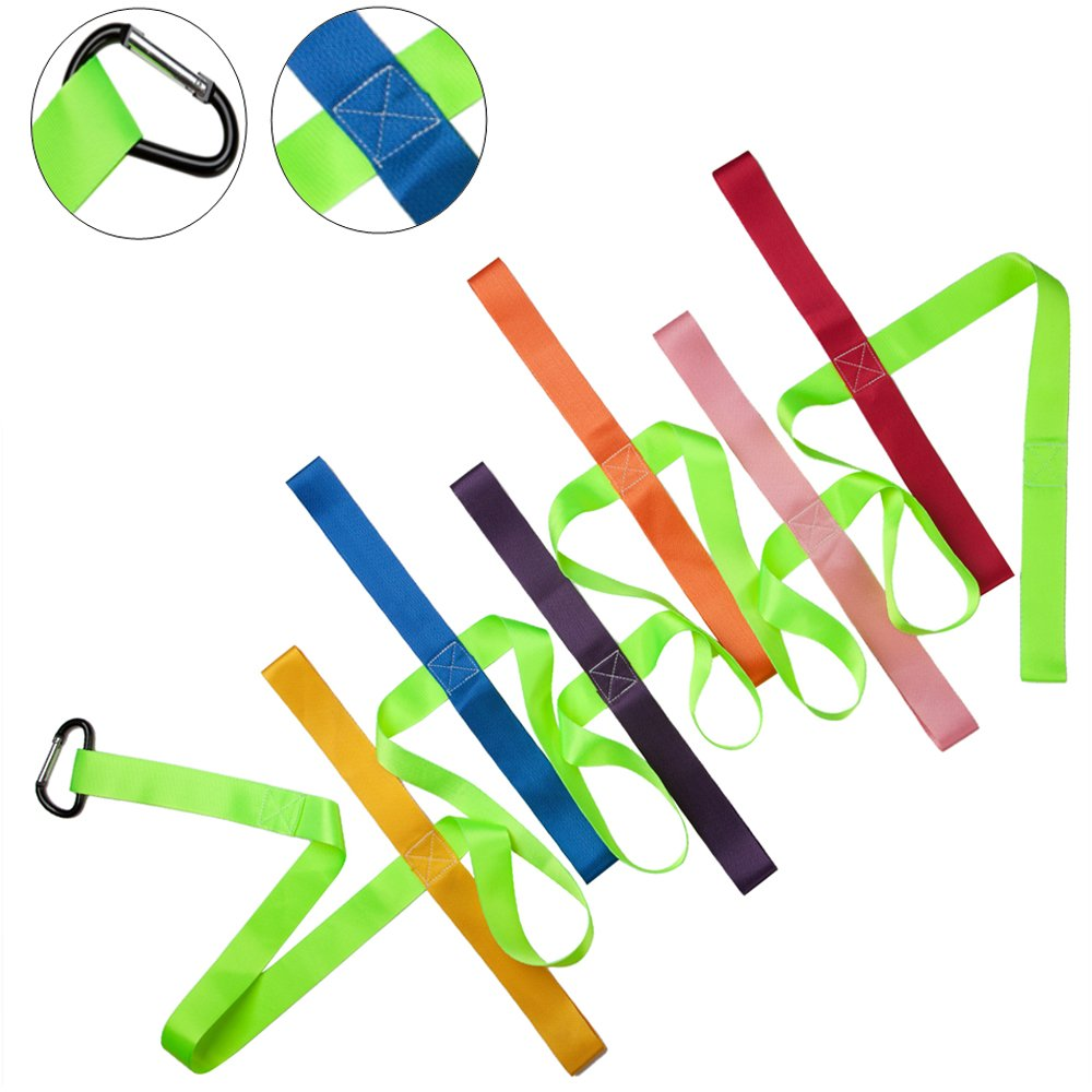 Toddler Rope for Walking,12 Colorful Daycare Rope with Handles Children Walking Ropes with Buckle for Preschool Children Toddlers Daycare Schools Teachers, 12 Feet Long【Fluorescent Green】