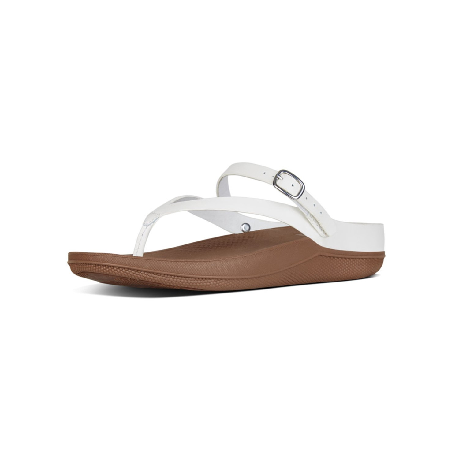 a3aa7a9337249 FitFlop Womens Flip Leather Microwobbleboard Wedge Sandals