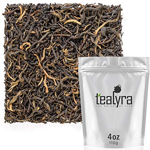 Tealyra - Jasmine Black - Rare Black Loose Leaf Tea - Best Chinese Jasmine Tea - Medium Caffeine - 110g (4-ounce)
