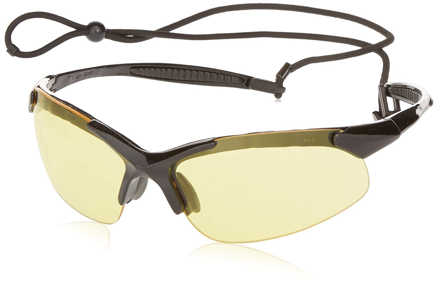 Radians IN1-40 Rad-Infinity Sporty Lightweight Black Frame Glasses with Amber Lens