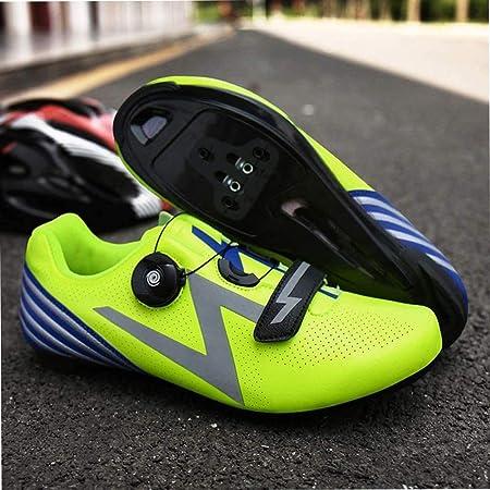 YURU Zapatillas De Ciclismo De Carretera Unisex Zapatillas De Bicicleta Deportivas Al Aire Libre Profesionales Ligeras Antideslizantes Adultos Bicicleta De Montaña Zapatillas De Atletismo,Green-39EU: Amazon.es: Hogar