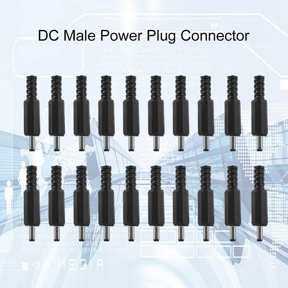 Male Power Adapter Plug Jack Connector 3.5mm x 1.35mm 20PCS DC Connector DC Socket Adapter