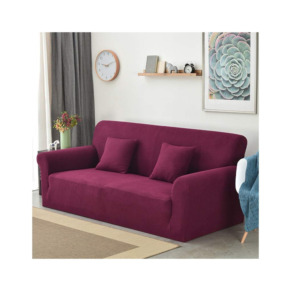 WUFANGFF Slipcover Martha Red Sofa Tela De Punto Grueso ...