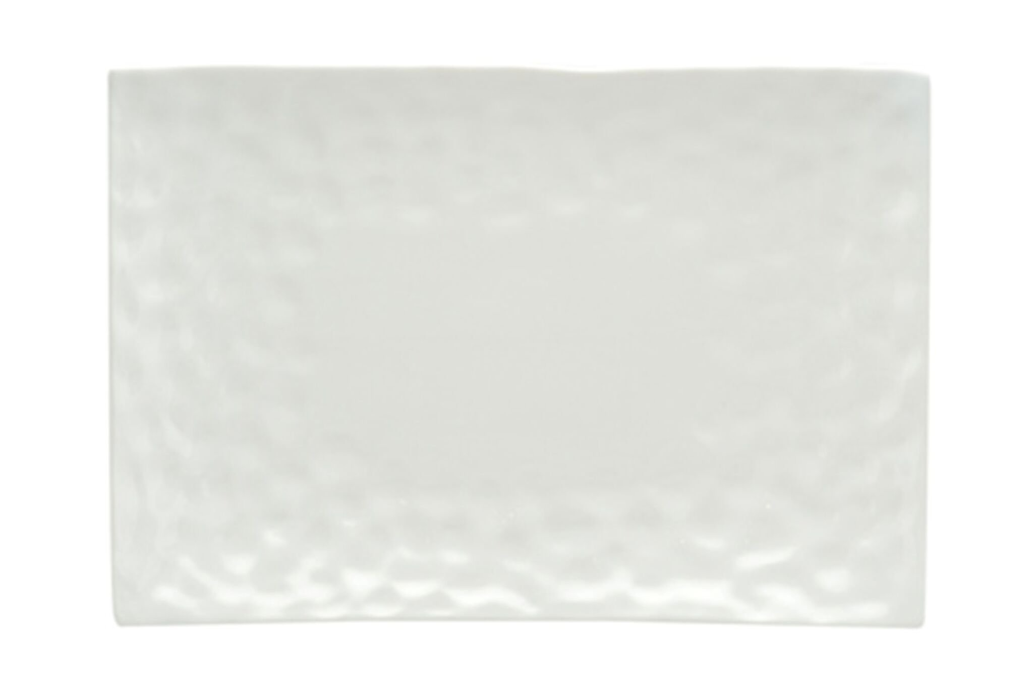 Red Vanilla Marble Rectangular Dinner Plate, Set of 4, 11'' x 9''