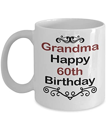 Image Unavailable Not Available For Color Birthday Mug Gift Grandma Happy 60th