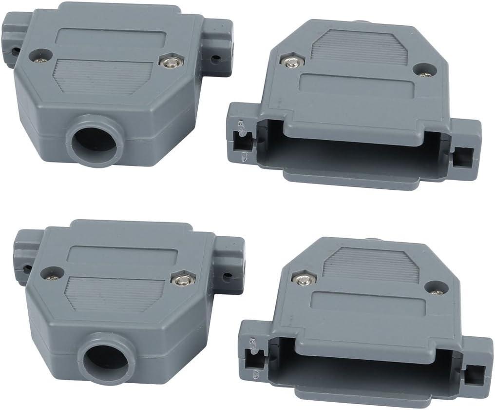 10pcs Metal Plated D-Sub 9pin 2-Row//15pin 3-Row Cover Shell//Hood Housing
