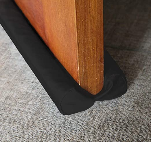 Canvas Coffee PrettyWit Adjustable Under Door Draft Stopper 32 to 36 inches Draught Stoppers Twin Door Draft Blocker Guard Sweeps Noise Blocker