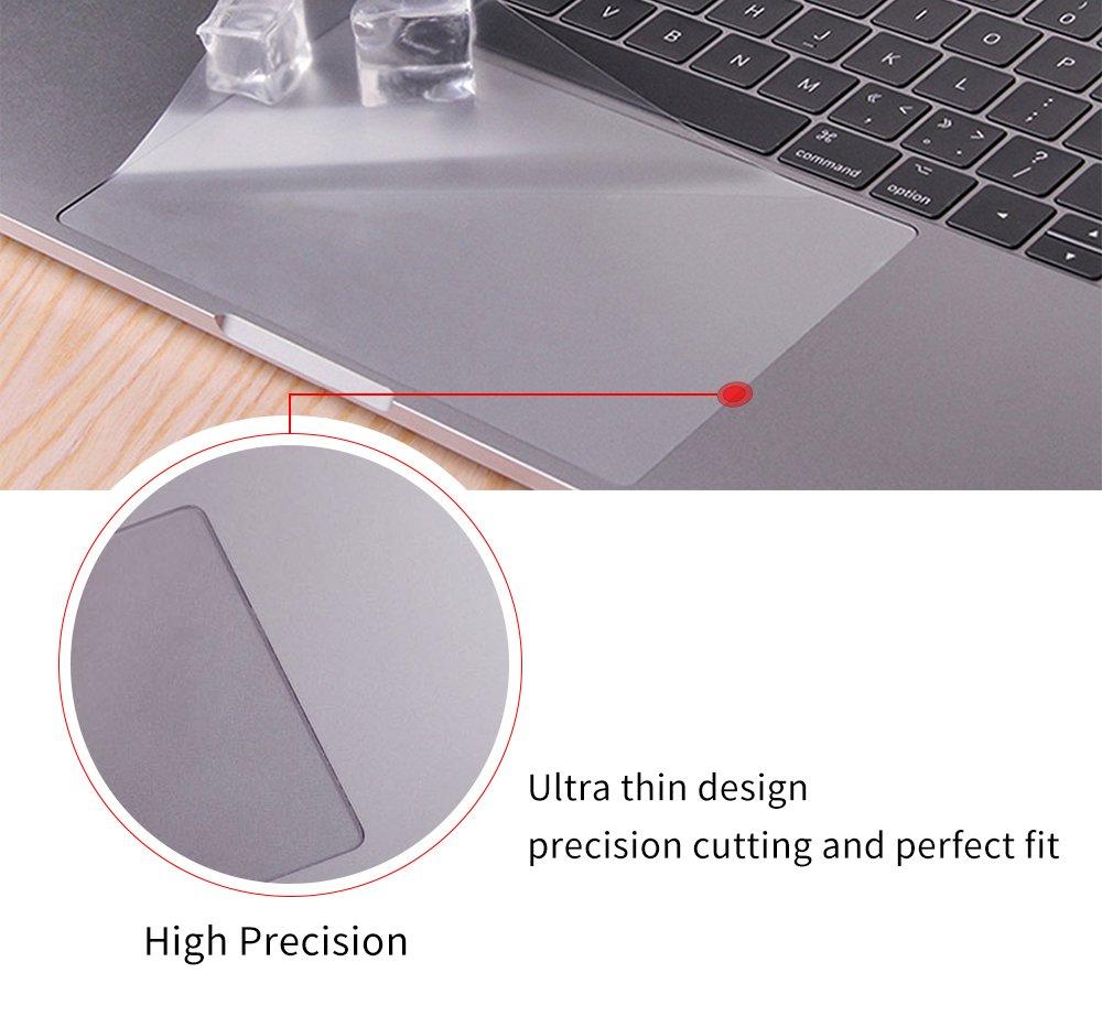 2015//2016//2017 Version CASEBUY Clear Matte Anti-Scratch Trackpad Protector Cover Skin MacBook 12-inch A1534 Retina Display MacBook 12 Trackpad Skin 2-Pack