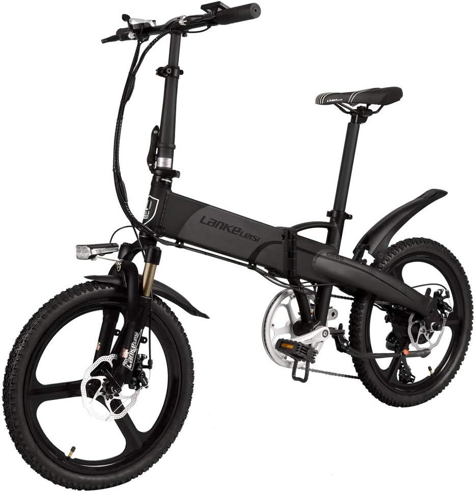 LANKELEISI G660 Bicicleta eléctrica Plegable de 20 Pulgadas 48V ...