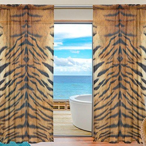 sheer curtain tiger animal leopard