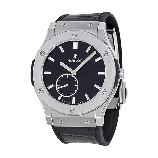 Hublot clásico fusión Classico Hombres ultrafina de titanio Manual reloj - 515. NX. 1270. LR: Hublot: Amazon.es: Relojes