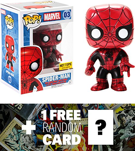 Marvel Spider-Man (Hot Topic Exclusive): Funko POP! x Universe Vinyl Bobble-Head Figure + 1 FREE Official Trading Card Bundle -
