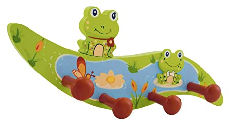 Bieco 23932195 perchero infantil Rana Froggy, Verde: Amazon ...