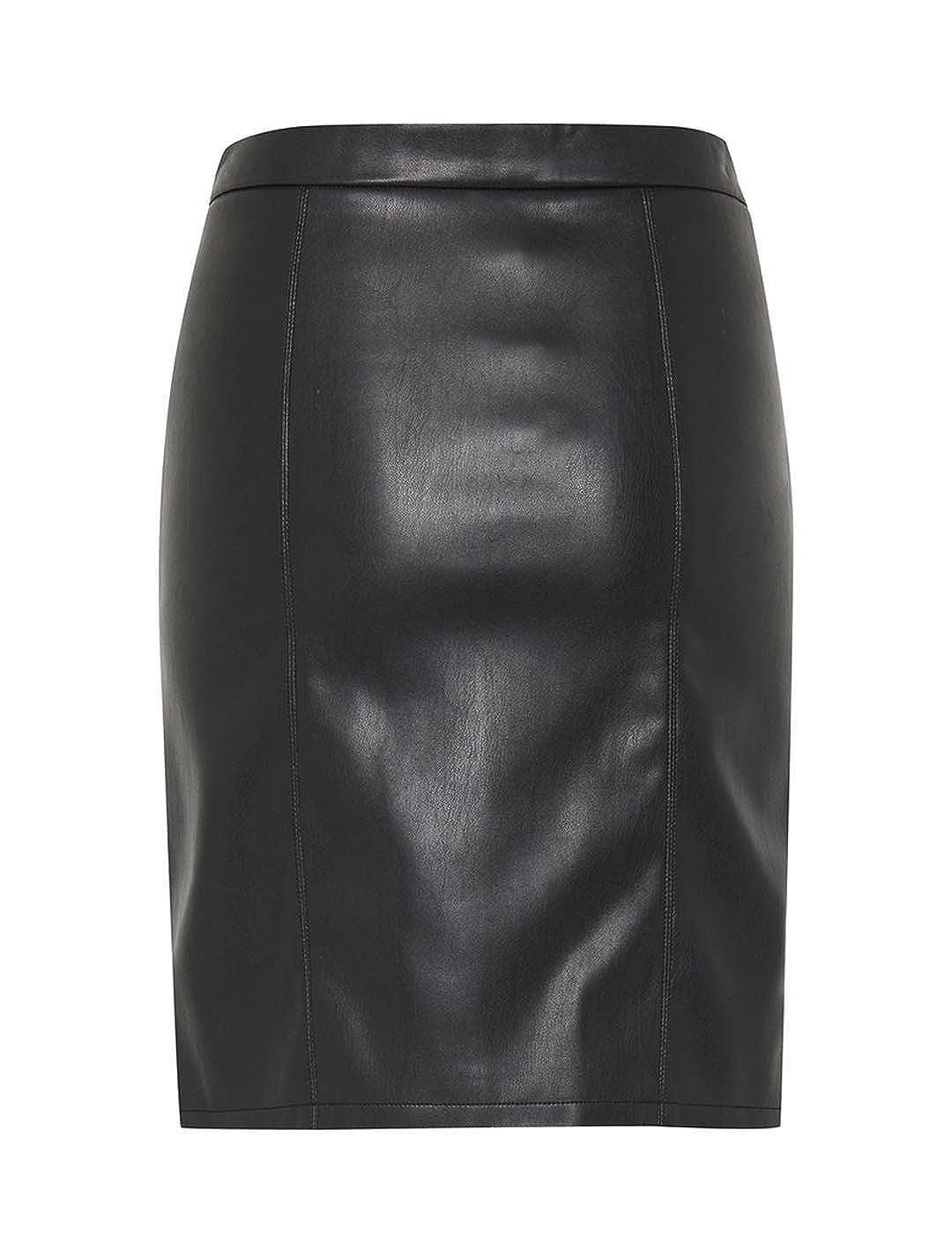BlendShe Falda Polipiel Puz Negro XL: Amazon.es: Ropa y accesorios