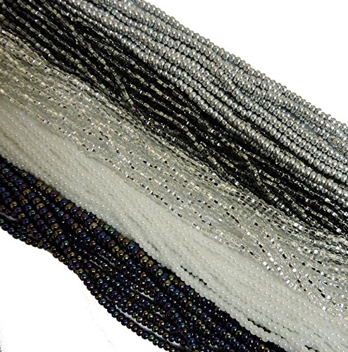 Czech 11/0 Glass Seed Beads - Classy Mix (5 X 6-string Hanks) Preciosa (Pearl Czech Seed Bead Hank)