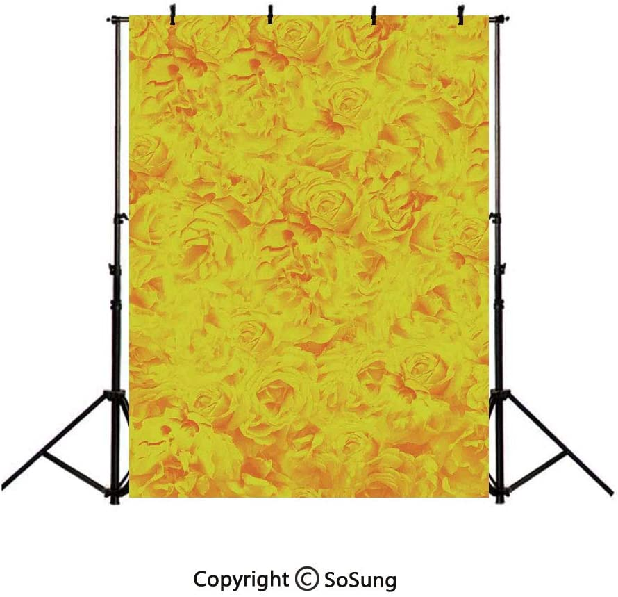 9x16Ft Vinyl Roses Decorations Backdrop for Photography,Lots of Different Size Roses Like Garden Artistic Creative Graphic Design for Sweetheart Background Newborn Baby Photoshoot Portrait Studio Prop