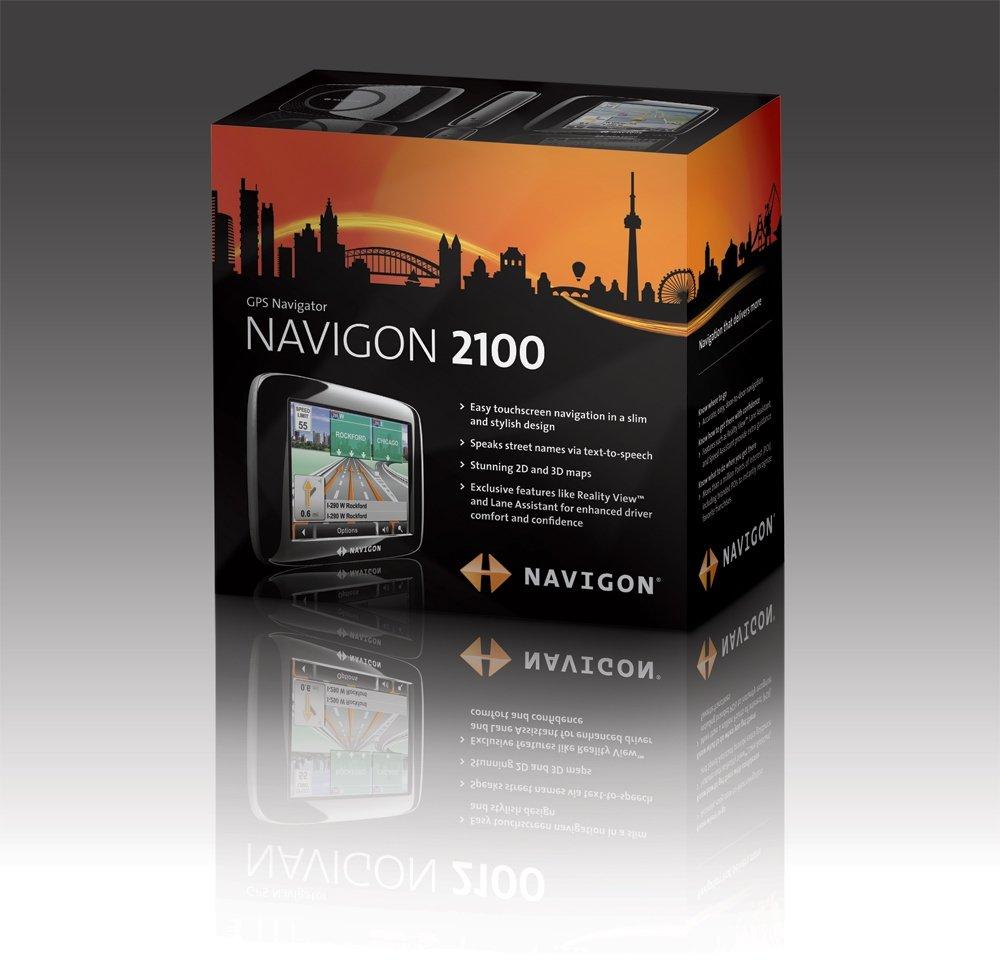 Amazoncom Navigon 2100 35 Inch Portable GPS Navigator