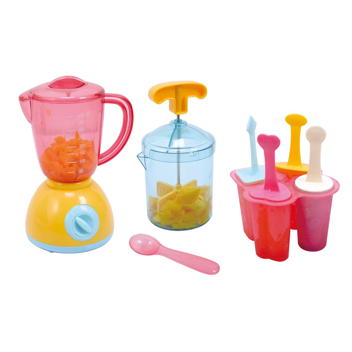 PlayGo My Ice Works 4 Set Shaped ICES Form with ICES Sticks Included Pretend Play for Toddlers & Kids by PlayGo
