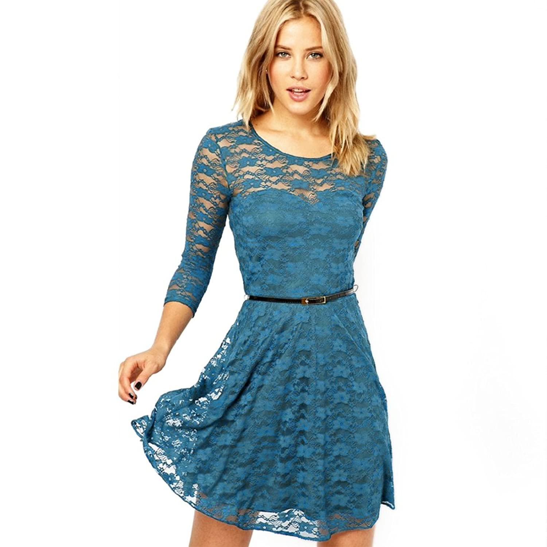 Elite99® Women\'s Skater Dress: Amazon.co.uk: Clothing