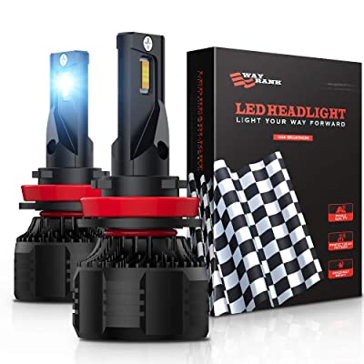WAYRANK H11 LED Headlight Bulb 16000 Lumens 90W 6000K Cool White H8 H9 Conversion Kit: Automotive