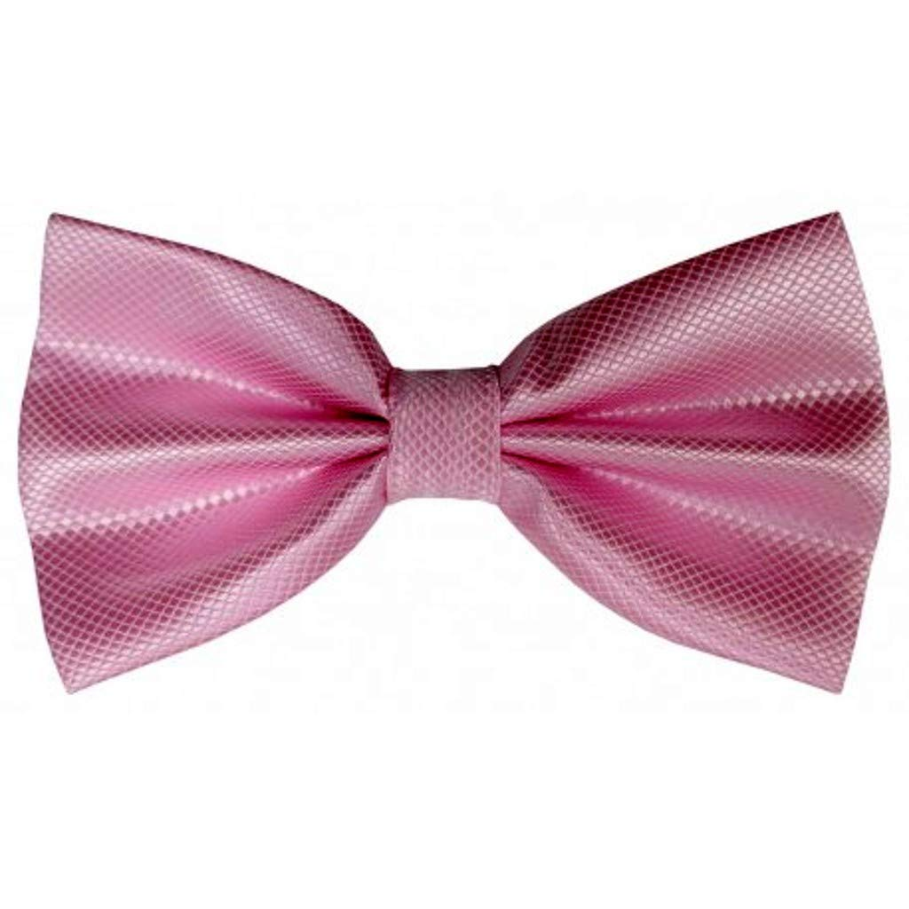 JOSVIL Pajarita hombre Rayon Rosa Claro - Pajarita Elegante para ...