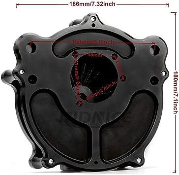 Corte de borde CNC Nostalgia Venturi Toma de aire para filtro de aire Breakout FXSB de Harley Entradas de aire FLHR para harley touring 00-07