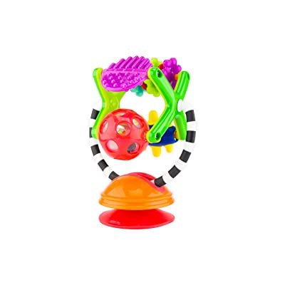 Sassy Teethe & Twirl Sensation Station 2-in-1 Suction Cup High Chair Toy | Developmental Tray Toy for Early Learning | for Ages 6 Months and Up : Baby
