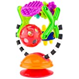 Sassy Teethe & Twirl Sensation Station 2-in-1 Suction Cup High Chair Toy | Developmental Tray Toy for Early Learning…