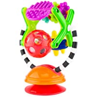Sassy Teethe & Twirl Sensation Station 2-in-1 Suction Cup High Chair Toy | Developmental Tray Toy for Early Learning | for Ages 6 Months and Up