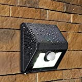 Dressffe 8 LED Solar Power PIR Motion Sensor Wall Light Outdoor Waterproof Garden Lamp