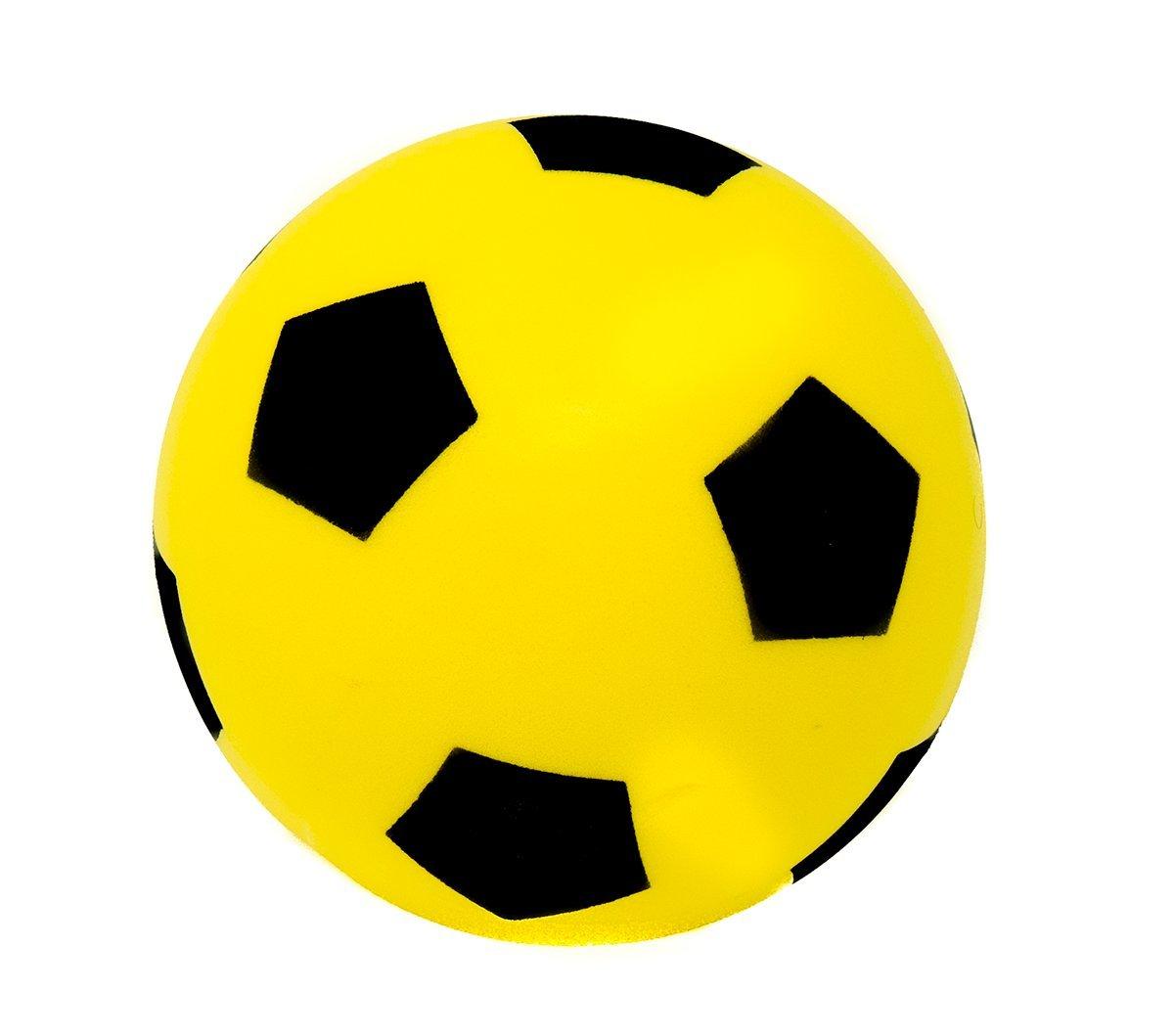 17,5 cm Color Amarillo E-Deals Bal/ón de f/útbol de Espuma Suave