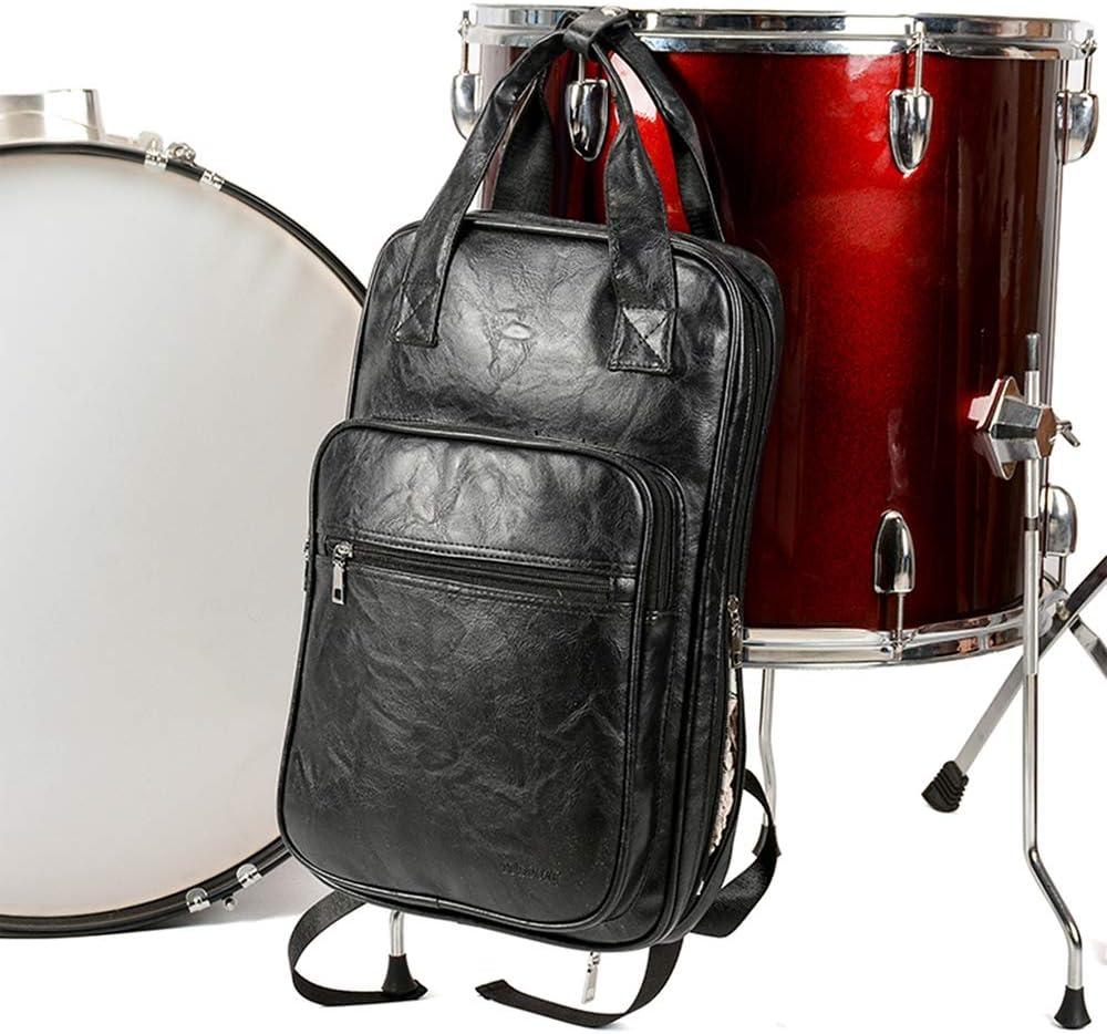YUSDP 2 PCS PU Material Drum Sticks Bag, Estuche para Baquetas para Bateristas, diseño de Correa de Hombro Ancha Tipo S, Intervalo Interno, Resistente al Desgaste para Viajes, Concierto: Amazon.es: Hogar