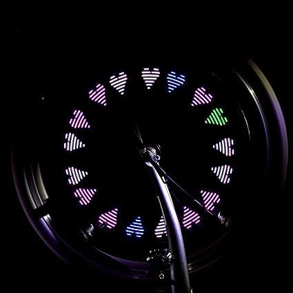 WISEUK Hermosa creativa válvula de rueda de plástico para bicicleta o motocicleta, 7 luces LED