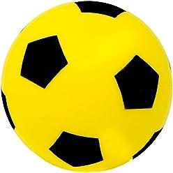 Éponge//Mousse Football 17.5 cm couleurs assort