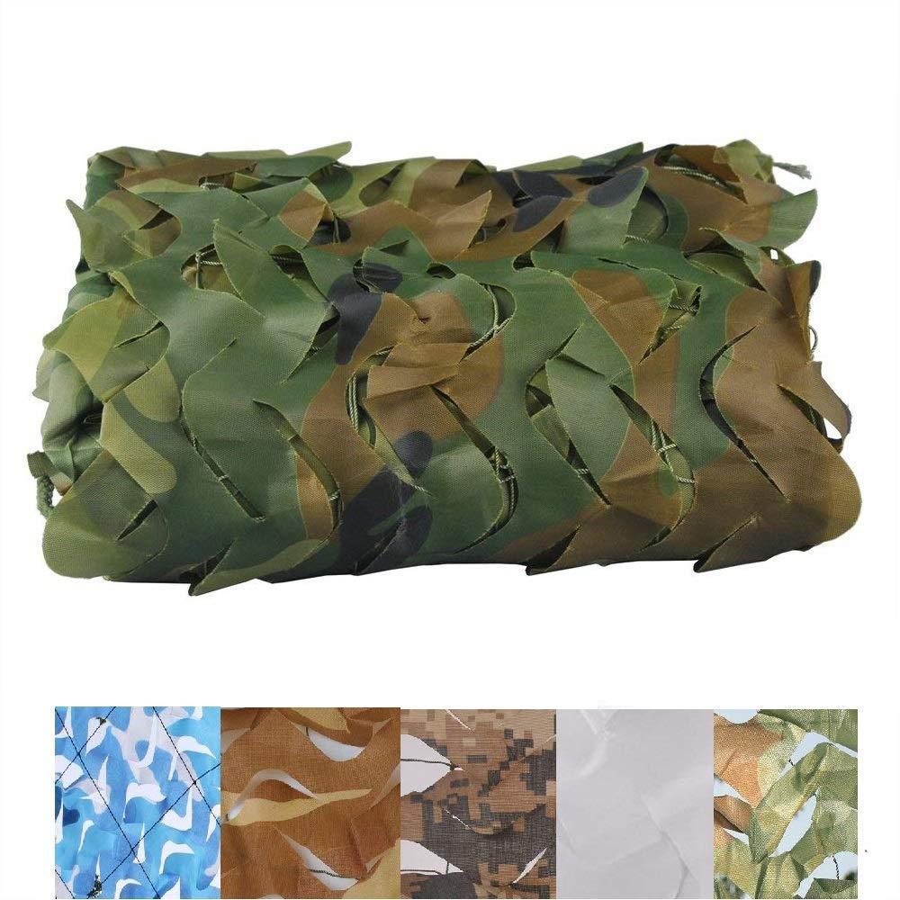 46M(13.119.7ft) BÂche,Filet de camouflage Filet d'ombrage Camouflage Auvents Soleil écran de maille pare-soleil maille Tissu de tente de verrières, Convient pour la chasse aux peaux militaires, Couleur de la jungle,
