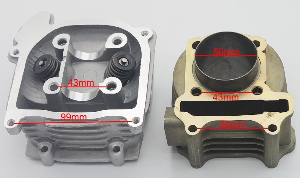 GOOFIT Big Bore Cylinder Rebuild Kit GY6 50cc 139QMB Racing Scooter Parts 64mm Valve by GOOFIT (Image #3)