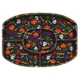 Amscan Reusable Halloween Party Sectional Serving Platter Tableware, Black, 13 1 4 x 18 1 4 x 1 1 4