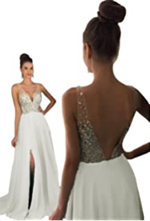 5e482598af6a HEAR Women's V Neck Long Prom Dresses Backless Party Evening Dress Hear051