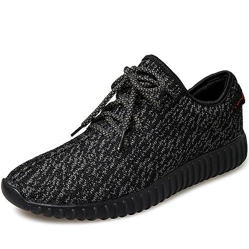 SITYLE Men Women Unisex Couple Casual Fashion Sneakers Breathable Athletic  Sports Shoes Black 35 M EU 9b441147259