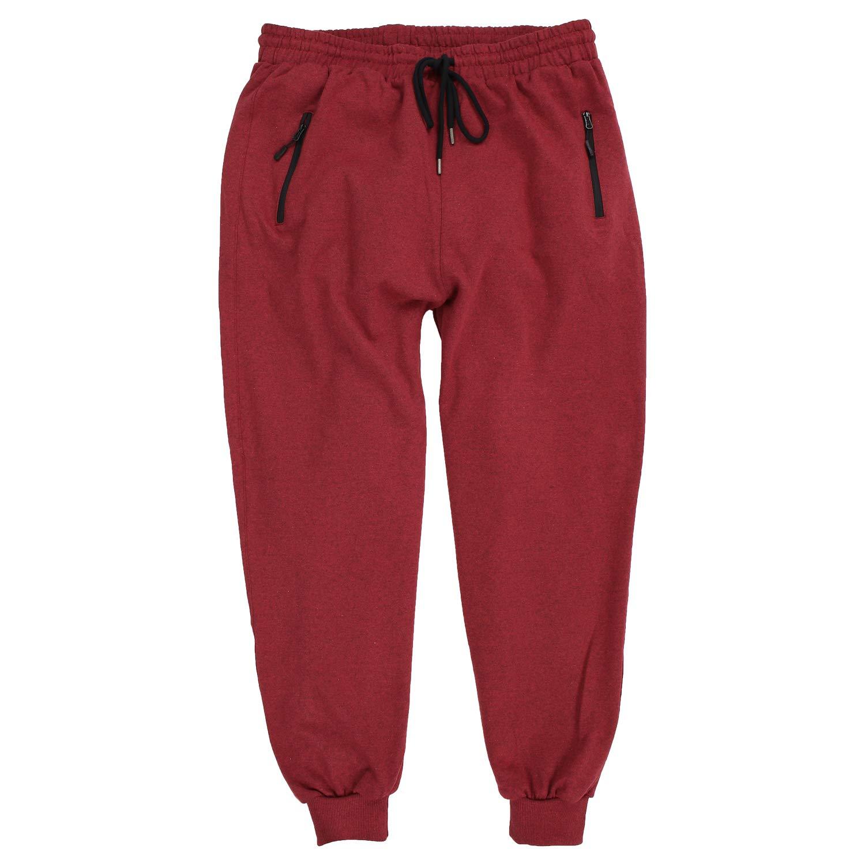 TALLA 4XL. Lavecchia Men's Jogging Pants Classic Bordeaux-Meliert Big Sizes